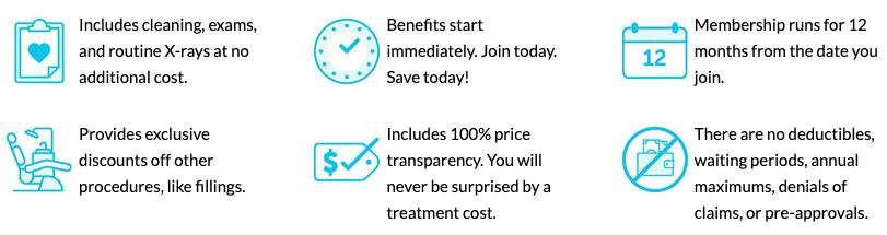 list of dental benefits