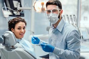 doctor explaining specialty dental services